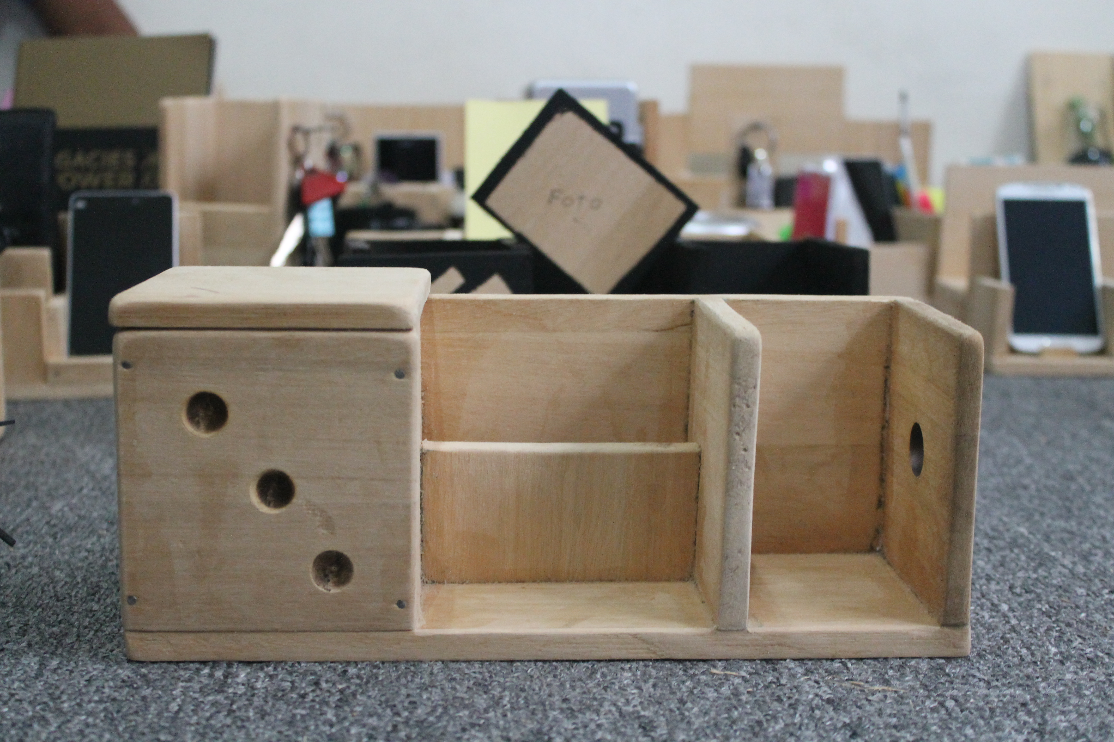 Play Saturday Crafting Our Very Own Diy Wooden Desk Organizers