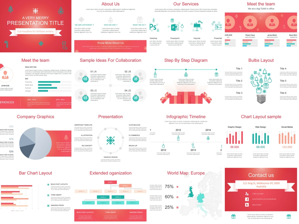 Christmas Themed PowerPoint Presentation Design