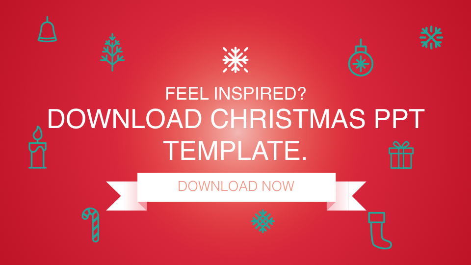 Download Christmas themed PowerPoint presentation template