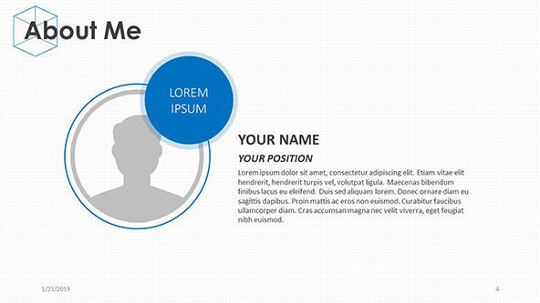 FREE Presenting 'About Me' PowerPoint Template PowerPoint Template