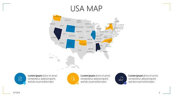 FREE Google Slides USA Map Template PowerPoint Template