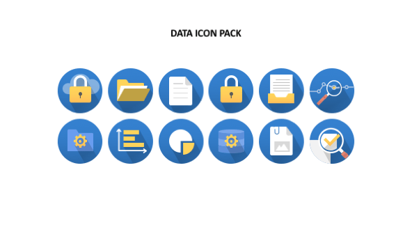 FREE Presentation Data Icons PowerPoint Template