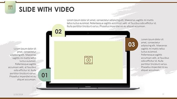 FREE PowerPoint Slides with Video Template PowerPoint Template