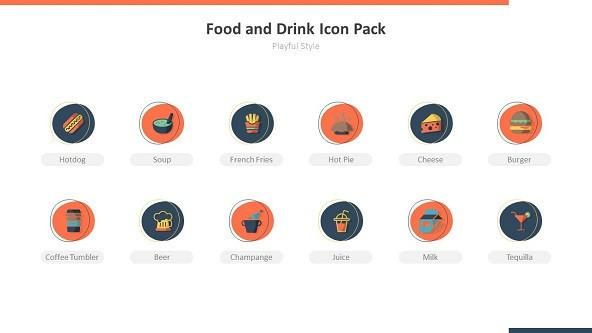 FREE Food and Drink Playful Icons PowerPoint Template