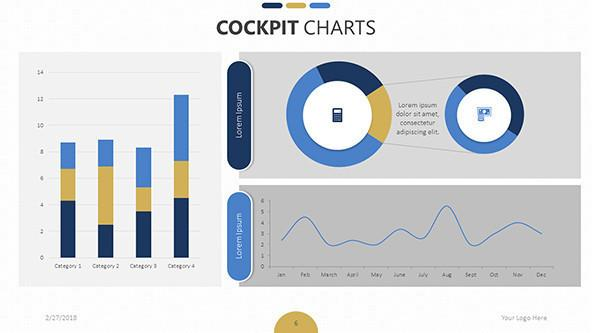 FREE Cockpit Chart Templates PowerPoint Template