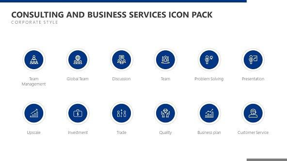 FREE Consulting and Business Services Icon PowerPoint Template