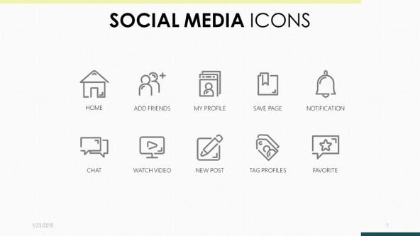 FREE Social Media Icons Template PowerPoint Template