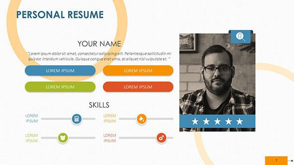 FREE Creative Personal Resume PowerPoint Template PowerPoint Template