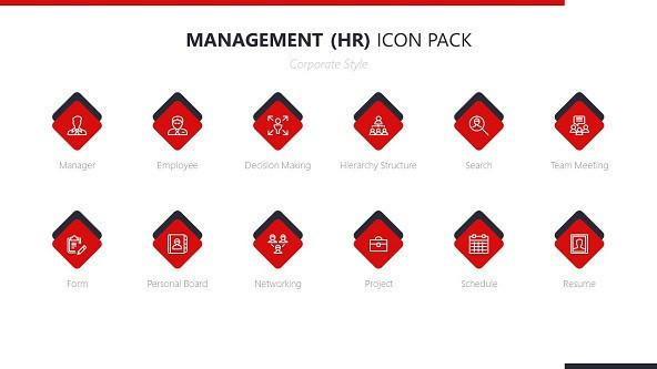 FREE Management Human Resource Icons PowerPoint Template