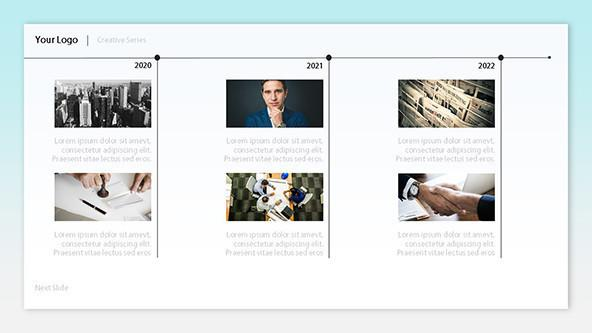 FREE Timeline Pictures Template PowerPoint Template