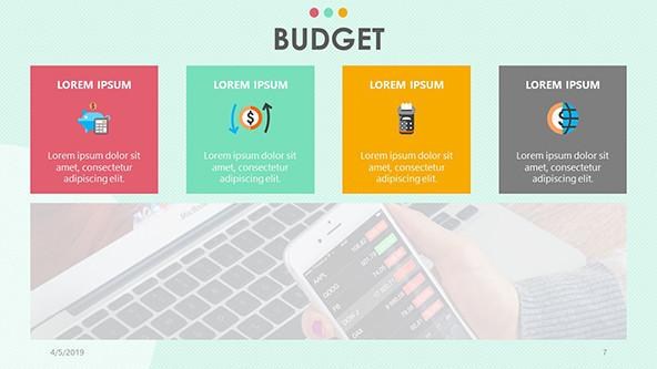 FREE Playful Budget PowerPoint Template PowerPoint Template