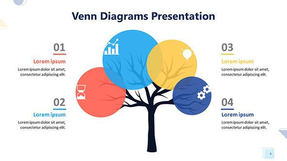 FREE Playful Venn Diagram PowerPoint Template PowerPoint Template
