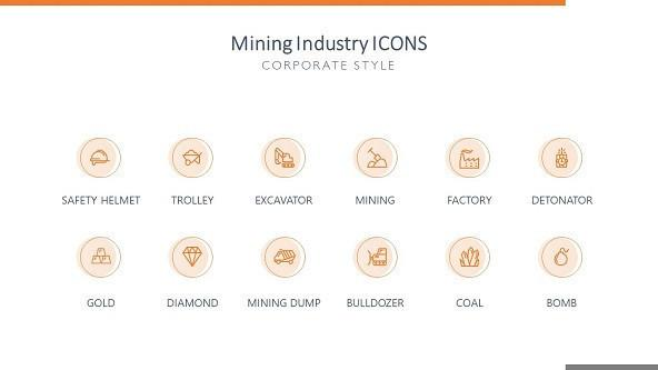 FREE Mining Industry Icons PowerPoint Template