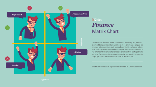 FREE Financial Matrix PowerPoint Template PowerPoint Template