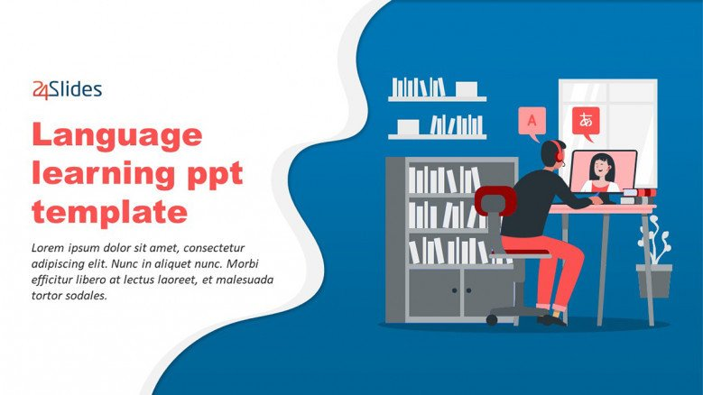 Language Learning Ppt Free Powerpoint Template