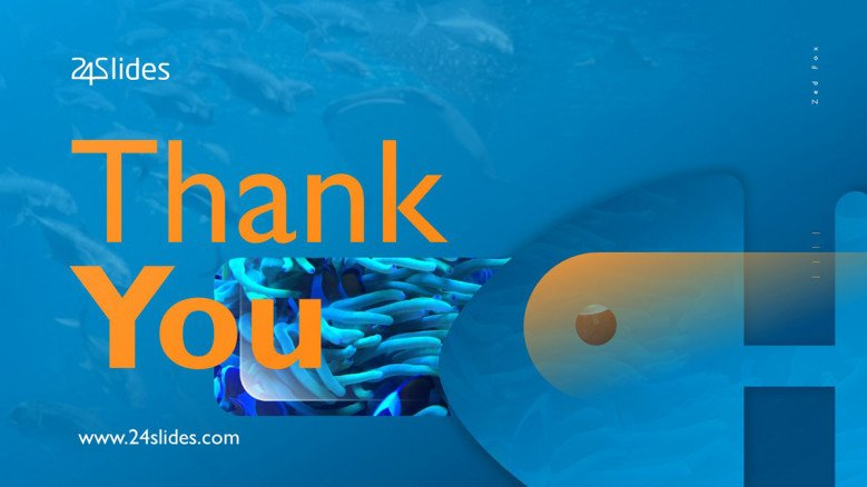 Thank you slide with ocean background