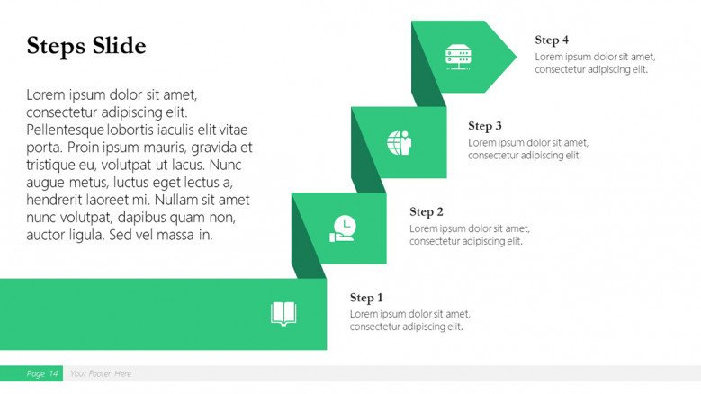 Steps Slide for a Boston Consulting Group Presentation