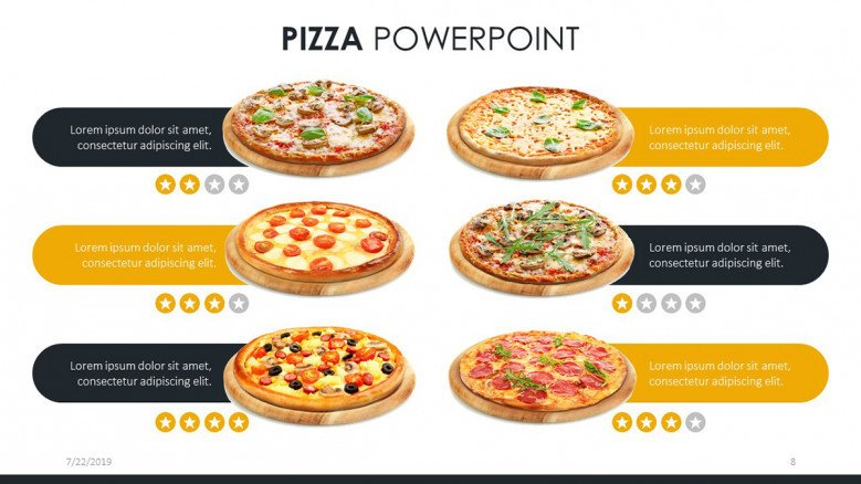 Top-selling pizzas slide for customers' reviews