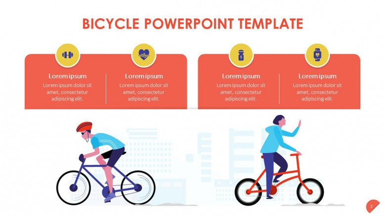 Bicycle Text Slide with illustrations