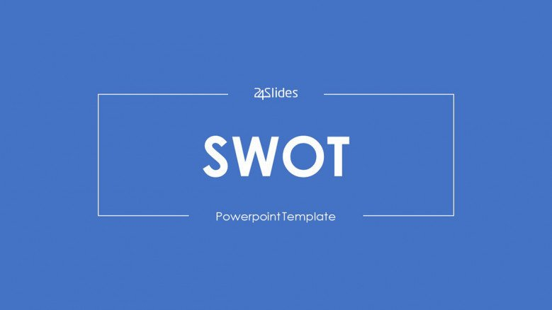 SWOT analysis welcome slide in blue minimalist style