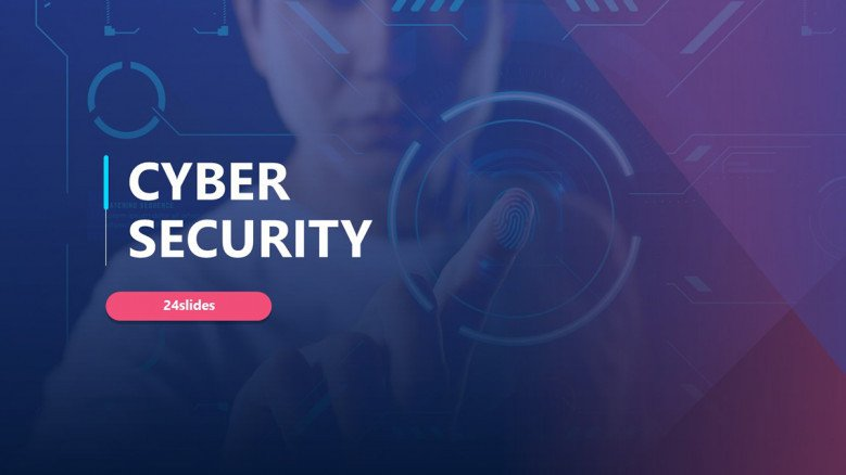 Purple Cyber Security PowerPoint Template