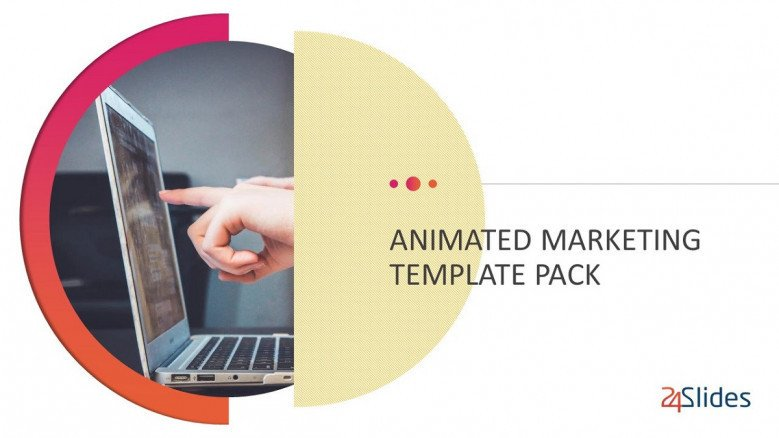 animated marketing welcome slide in creative style with image