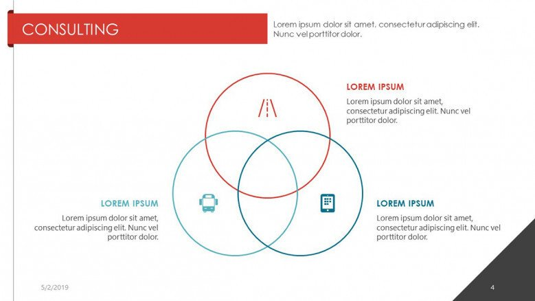 consulting slide with venn diagram