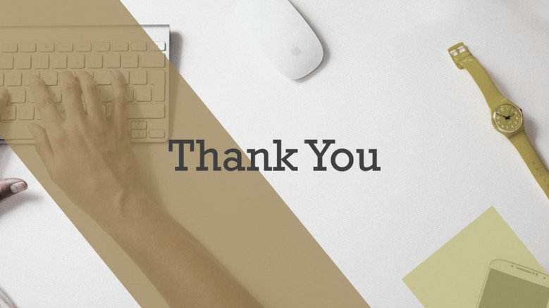 thank you slide for freelance marketer presentation