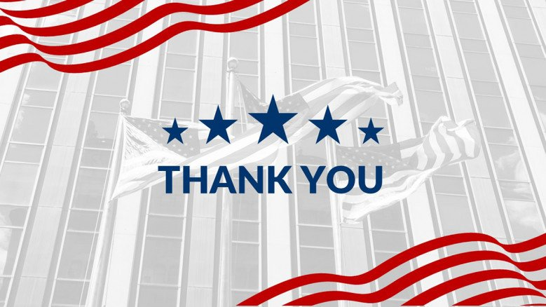 American Thank You Slide