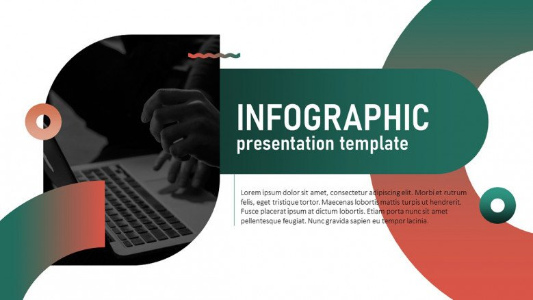 Title Slide for an infographic presentation in pink and green