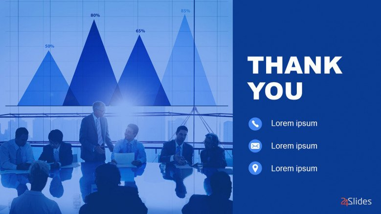 Blue Thank You Slide with contact info