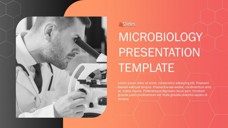 Microbiology research powerpoint template