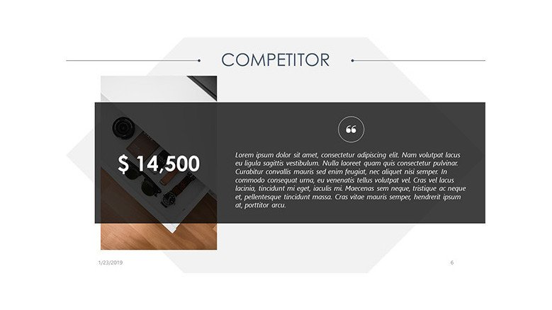 competitor budget analysis in text