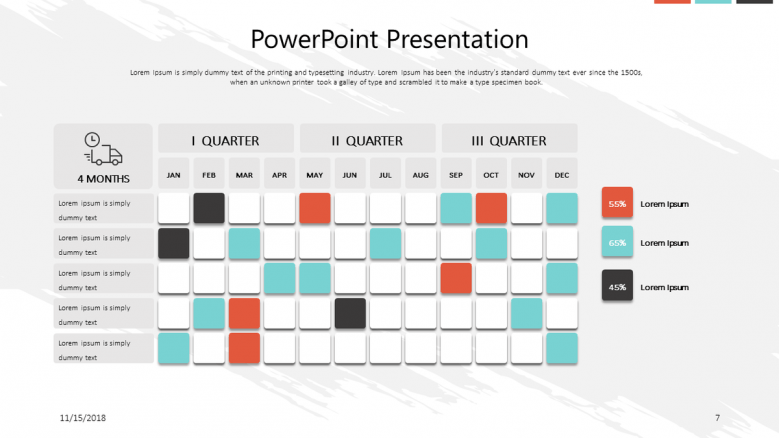 corporate presentation in gantt chart
