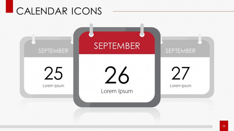 calendar with icons daily planner with text