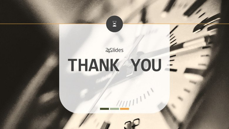 thank you slide for time presentation