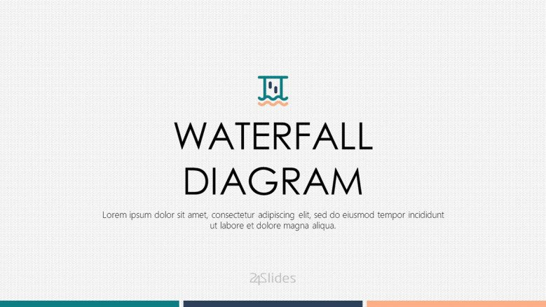 waterfall diagram welcome slide in corporate style