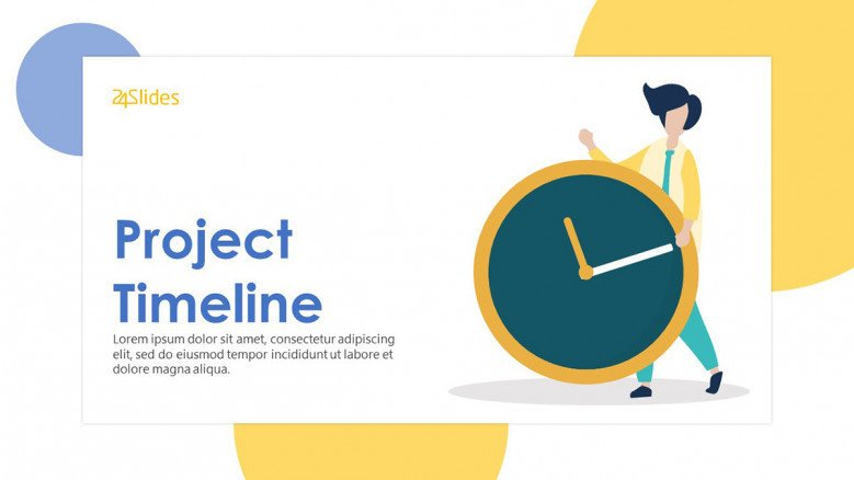 playful project timeline welcome slide