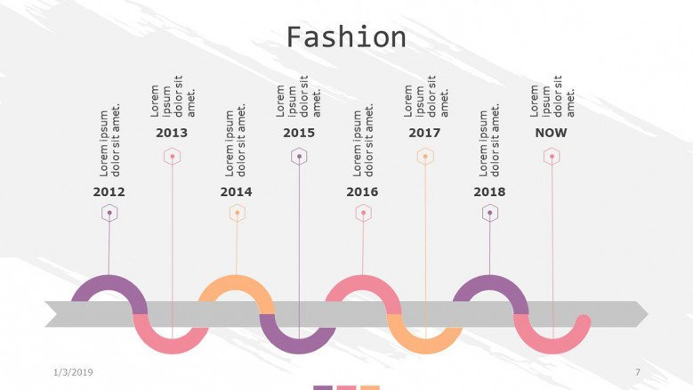 fashion slide with timeline