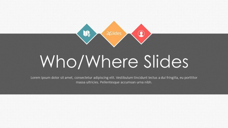 explaining who and where welcome slide