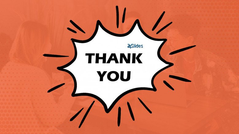 Comic themed Thank You Slide