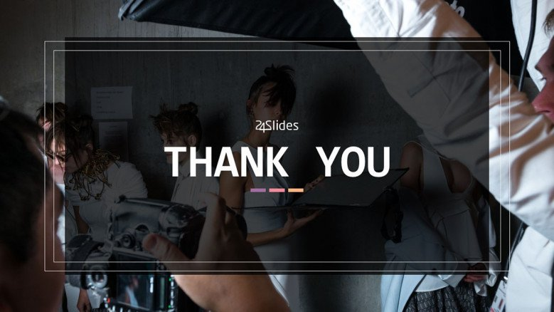 thank you slide for presentation on fashion