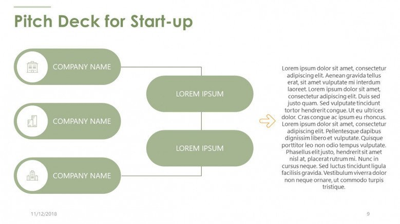 pitch deck for start up in structural chart
