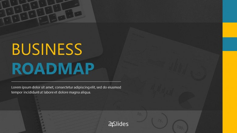 business roadmap presentation welcome slide