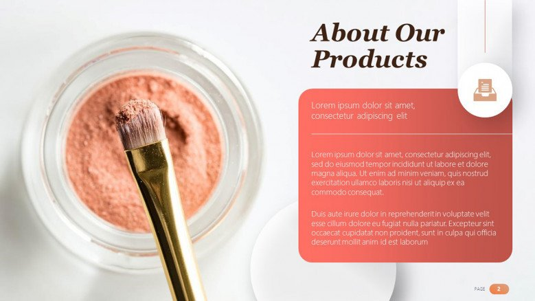 Makeup Products Slide