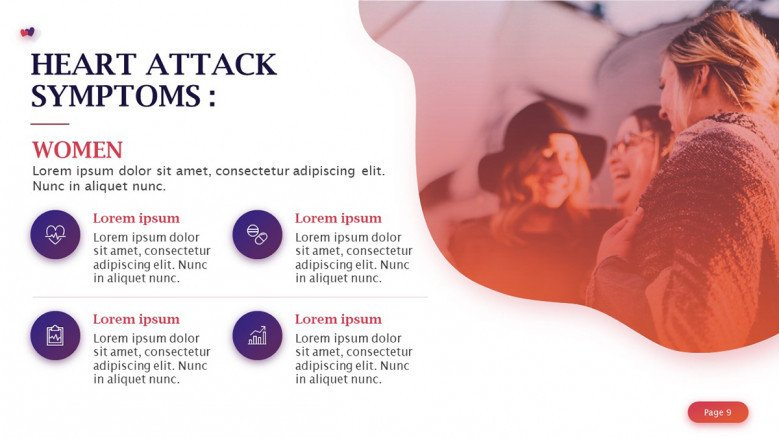 Heart Attack Symptoms in Women Slide