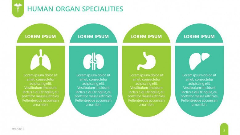 pharmaceutical human organ specialties slide health key points in comment boxes