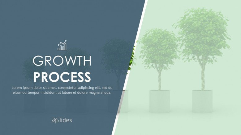 growth process welcome slide in corporate style
