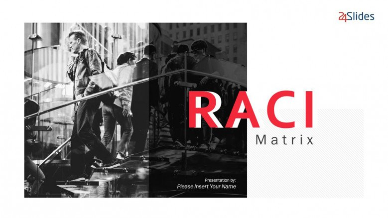 Title Slide for a RACI Matrix Presentation