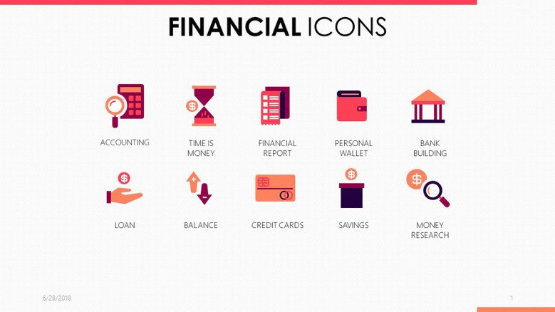 icons for financial presentation